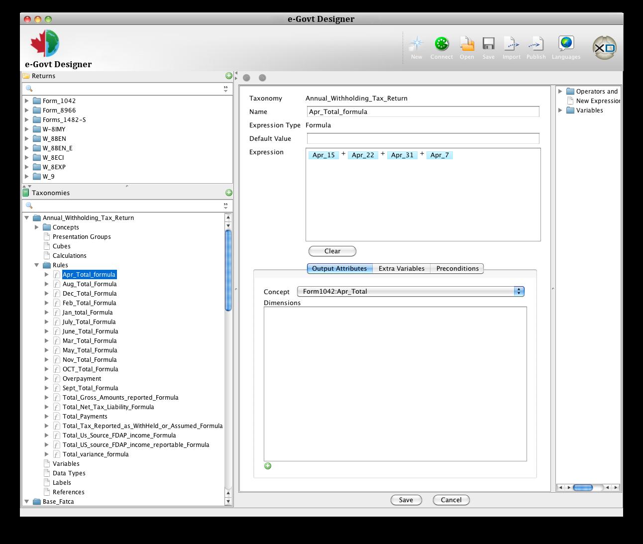 Designer Assertion Editor